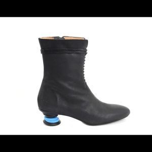 Fluevog Mid- Calf Lace-Up Boot Rare Find